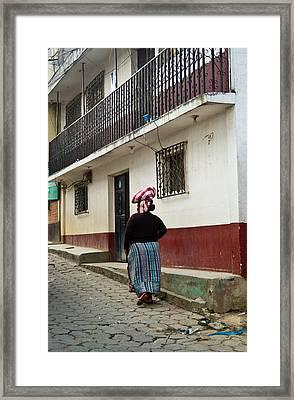 Going Home From The Market Framed Print by Douglas Barnett