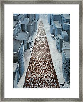 Going Home Framed Print by Jose A Gonzalez