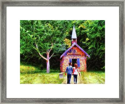 Going To The Chapel Framed Print by Jai Johnson