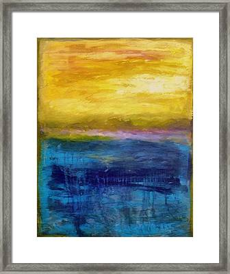 Gold And Pink Sunset Ll Framed Print by Michelle Calkins