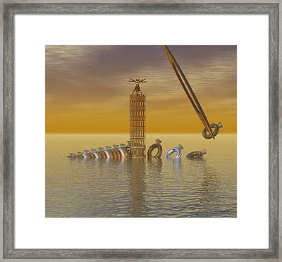 Gold And Silver Rings Framed Print by Wayne Bonney