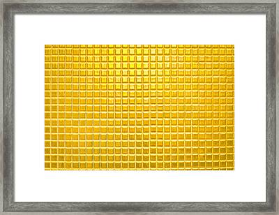 Gold Background Framed Print by Tom Gowanlock