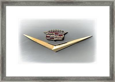 Gold Badge Cadillac Framed Print by Douglas Pittman
