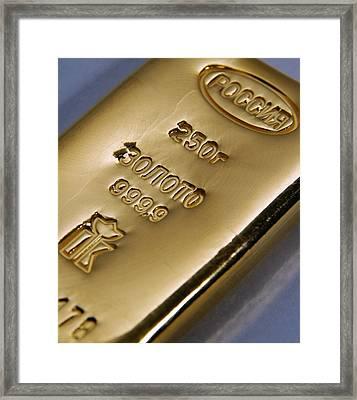 Gold Bullion Framed Print by Ria Novosti