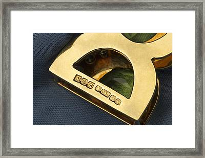 Gold Hallmarks, 1986 Framed Print by Sheila Terry
