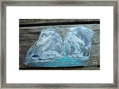 Gold In Mountain Framed Print by Monika Shepherdson