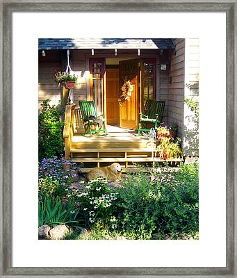Golden Bliss Framed Print by Julie Magers Soulen