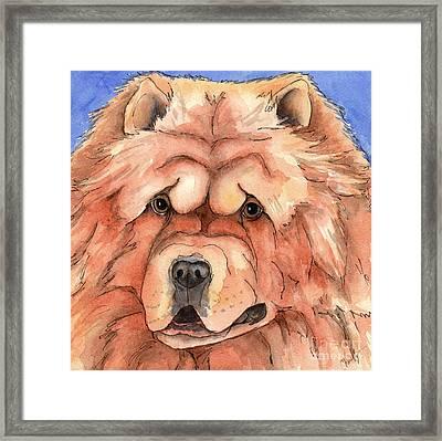 Golden Chow Chow Dog Framed Print by Cherilynn Wood