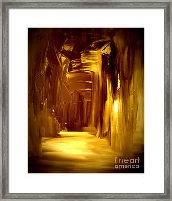 Golden Future Framed Print by Julie Lueders