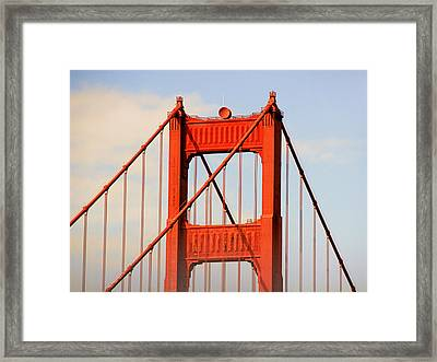 Golden Gate Bridge - Nothing Equals Its Majesty Framed Print by Christine Till