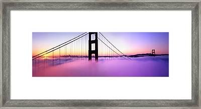Golden Gate Sunrise Framed Print by Steve Munch