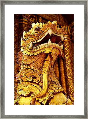Golden Guardian Framed Print by Dean Harte