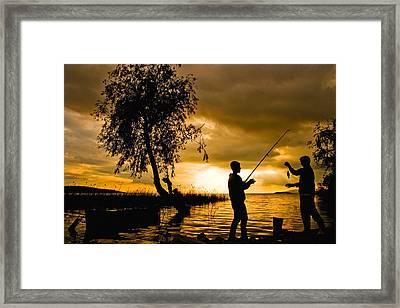 Golden Lake - 2 Framed Print by Okan YILMAZ