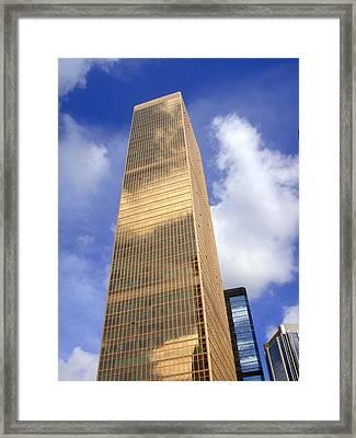 Hong Kong Framed Print featuring the photograph Golden Monolith by Roberto Alamino
