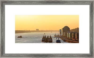 Golden River Framed Print by Marc Huebner