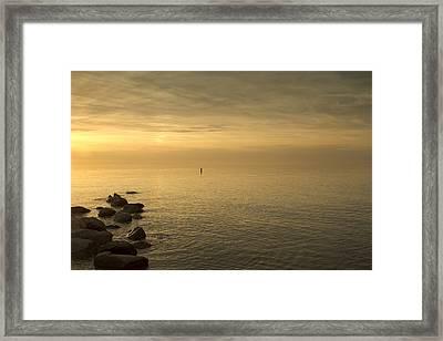 Golden Sea Framed Print by Bob Retnauer