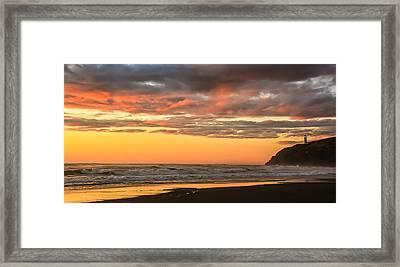 Golden Sunset Framed Print by Robert Bales
