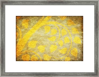 Golden Tree Pattern On Paper Framed Print by Setsiri Silapasuwanchai