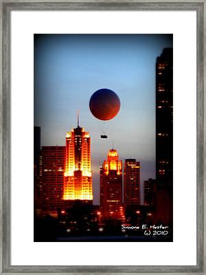 Golden View Framed Print by Simone Hester