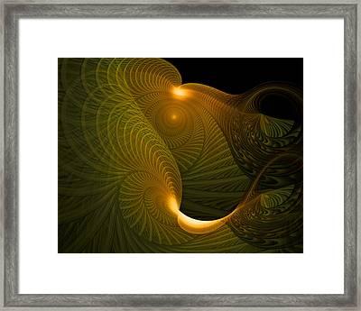 Golden Waves Framed Print by Amanda Moore