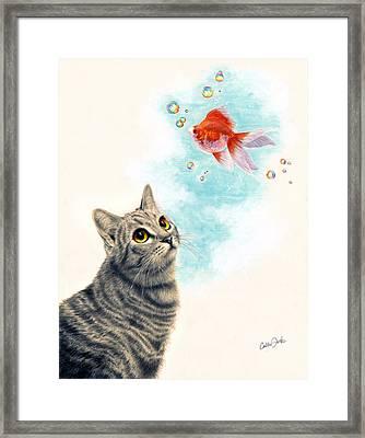 Goldfish Dreams Framed Print by Callie Fink