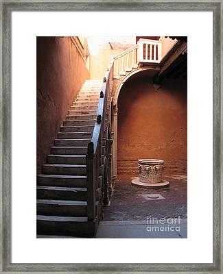 Goldoni House. Venice Framed Print by Bernard Jaubert