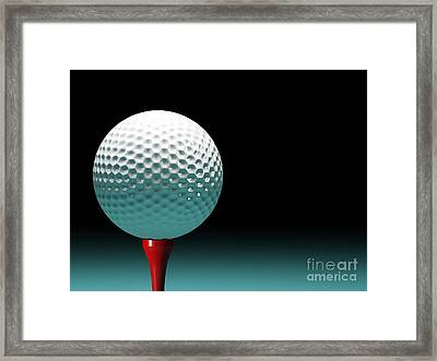 Golf Ball Framed Print by Gualtiero Boffi
