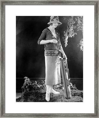Golfing Outfit Consisting Of Sweater Framed Print by Everett