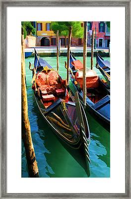 Gondola Framed Print by Photography Art