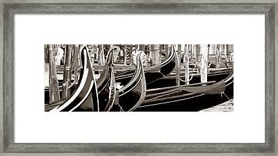Gondola Park Framed Print by Photography Art