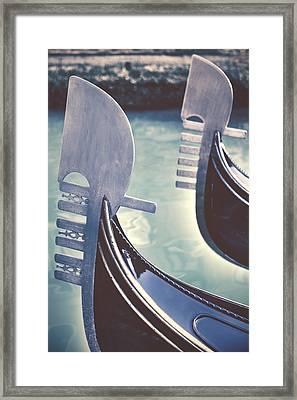 gondolas - Venice Framed Print by Joana Kruse