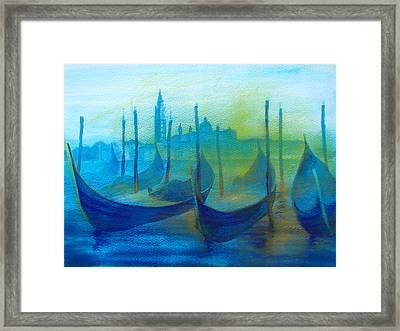 Gondolas Framed Print by Khromykh Natalia