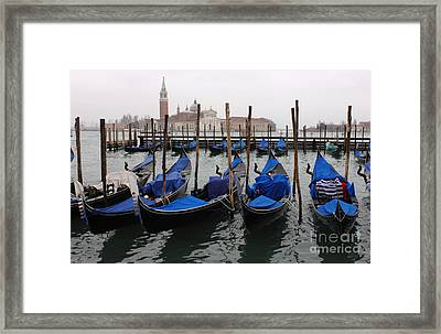 Gondolas The Grand Canal  Framed Print by Bob Christopher