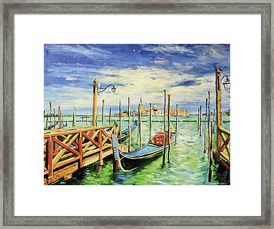 Gondolla Venice Framed Print by Conor McGuire