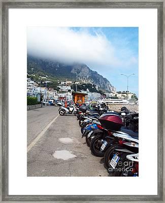 Good Morning Capri Framed Print by Joyce Hutchinson