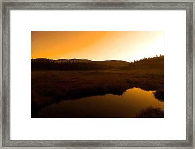 Good Morning Laurentians ...   Framed Print by Juergen Weiss