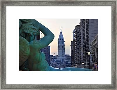 Good Morning Philadelphia Framed Print by Simon Wolter