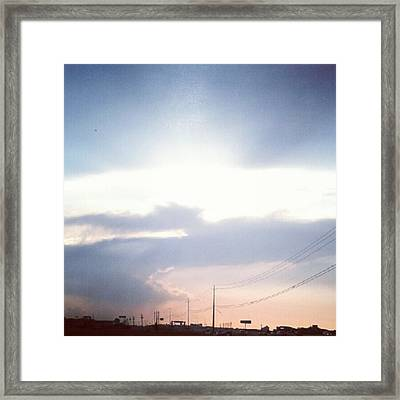 #good #morning #sunshine Framed Print by Kel Hill