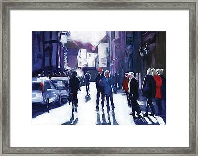 Goodramgate Contrajour Framed Print by Neil McBride