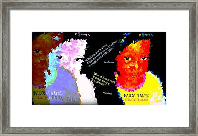 Google The Word - Talibe Framed Print by Fania Simon