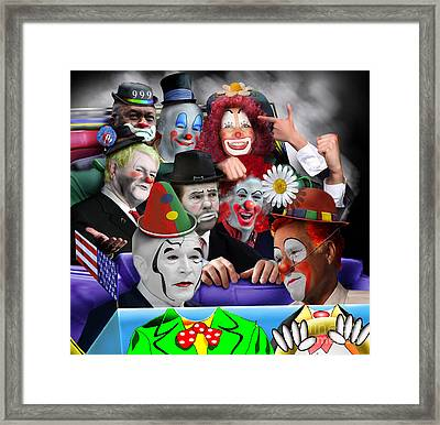 Gop - The Greatest Show On Earth Framed Print by Reggie Duffie
