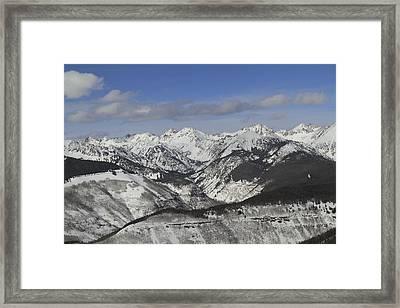 Gore Range, Dillon, Colorado, In Winter Framed Print by John Kieffer