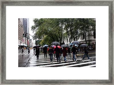 Gotham Rainy Day Framed Print by David Bearden