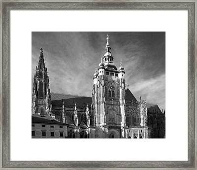 Gothic Saint Vitus Cathedral In Prague Framed Print by Christine Till