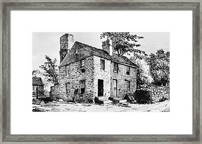 Governor Caleb Carr House. A House Framed Print by Everett