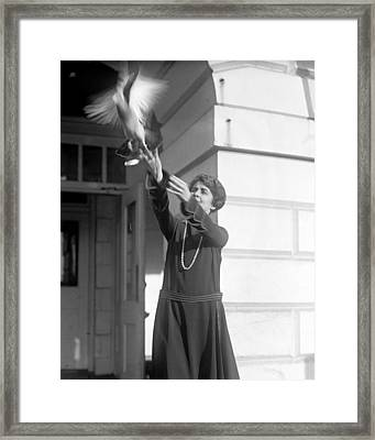 Grace Coolidge 1879-1957, First Lady Framed Print by Everett