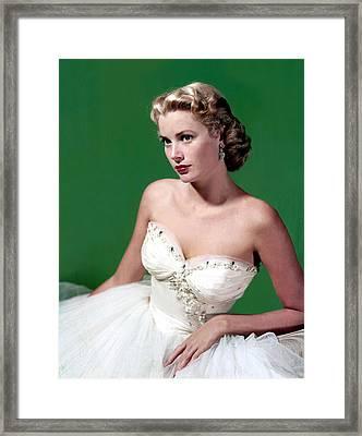 Grace Kelly, C. Mid-1950s Framed Print by Everett