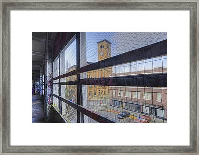 Graffiti Adorns Walls Of A Parking Framed Print by Douglas Orton