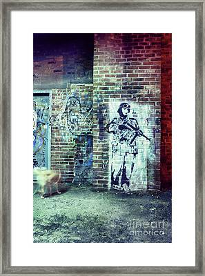 Graffiti Framed Print by HD Connelly