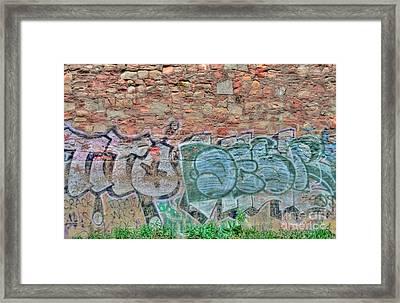 Graffiti Framed Print by Kathleen Struckle